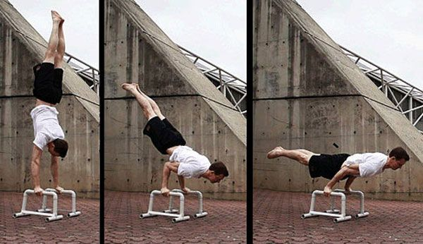 Handstand: The transition to the horizontal position