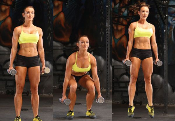 Jump squat with weights