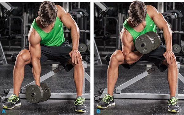 Supinated-wrist-curl-with-dumbbell-sitting-with-an-emphasis-on-the-thigh