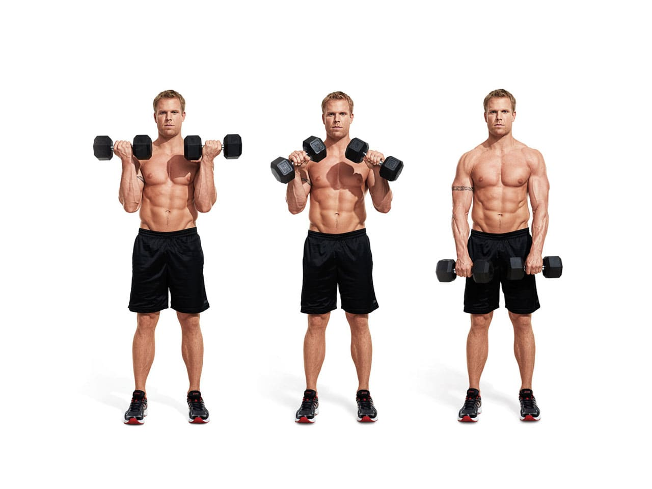 Supinated-wrist-curl-with-dumbbell-working-muscles